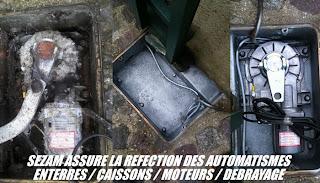 sezam portes automatiques depannage reparation moteur de portail enterre. Black Bedroom Furniture Sets. Home Design Ideas