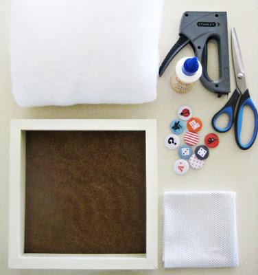 Tutorial: como hacer un cuadrito con una colección de chapas
