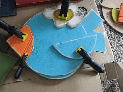 moviles, como hacer pajaros de madera, cartón para colgar, manualidades, hecho a mano