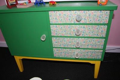 reciclado, restauración, muebles, cómoda