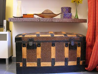 restauración, baúl de latón