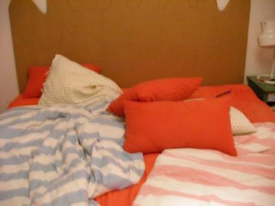 hecho a mano, cabecero , cama, vinilos