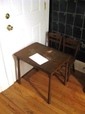 Antes y después: Una mesa infantil