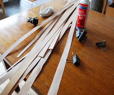 Tutorial: Como hacer una lámpara de varitas de madera