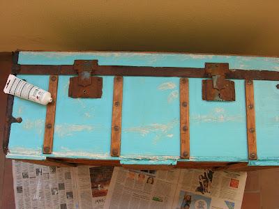 antes y después, restauración, recuperar, baúl, arreglar, restaurar, baúl viejo