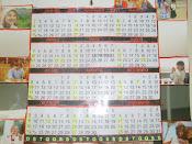 Montagem de calendário com recortes de figuras