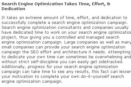 Benefits search engine optimization marketing 7p