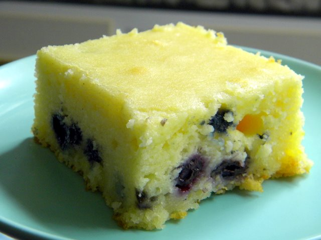 you know what you oughta do....: blueberry mochi cake