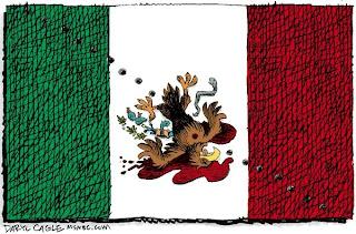 La bandiera messicana disegnata da Daryl Cagle