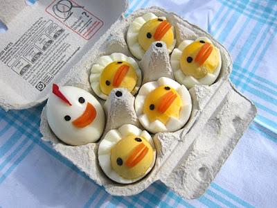 hard boiled chicken egg family
