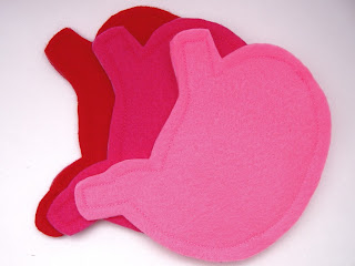 felt stomach change purse