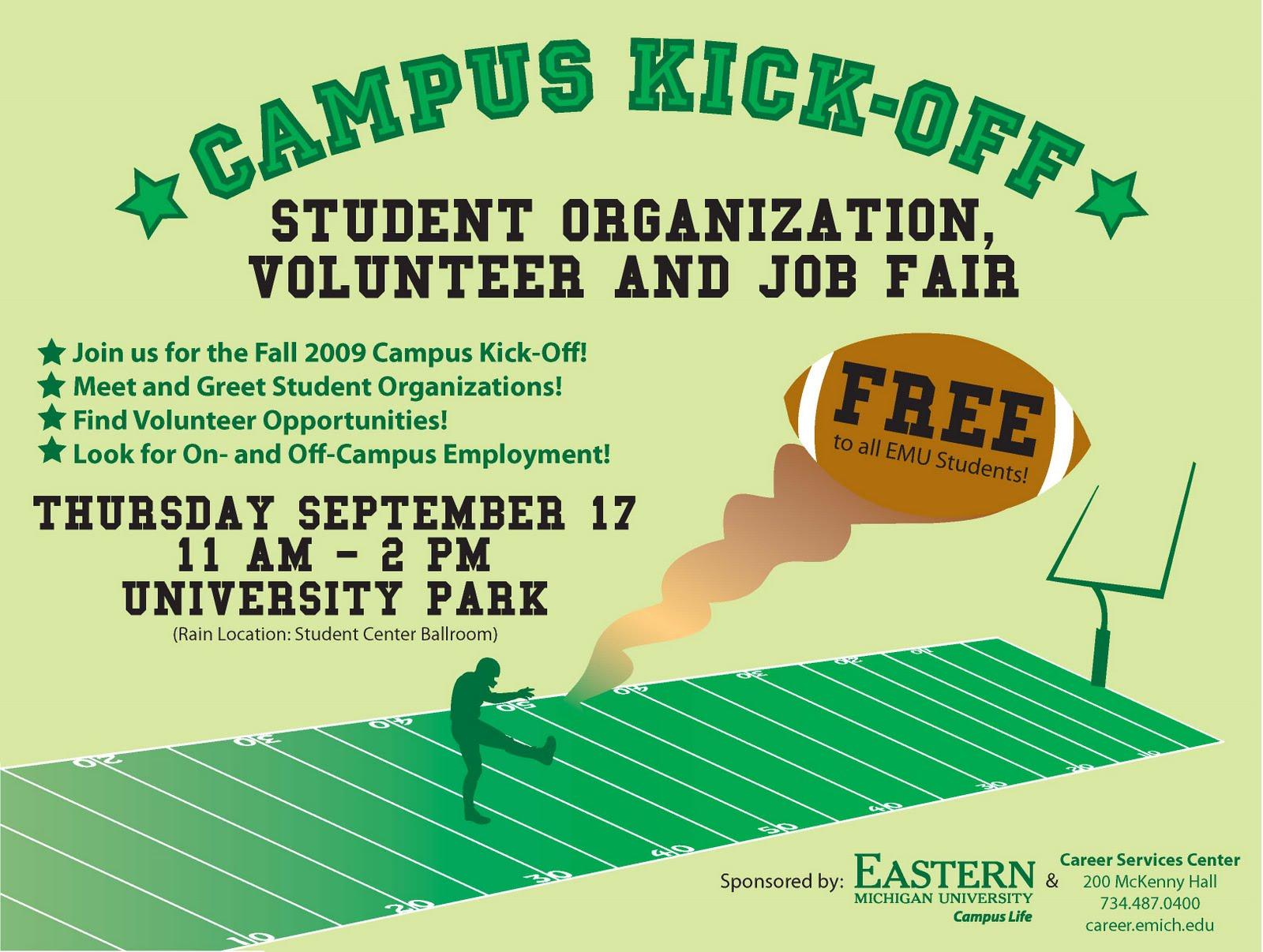 Poster design volunteer - Graphic Design 2009 Campus Life Posters