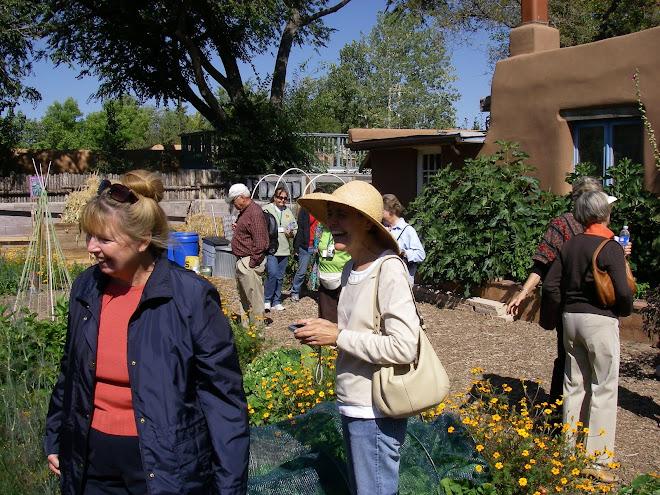 Tour group in veggie garden at LQ