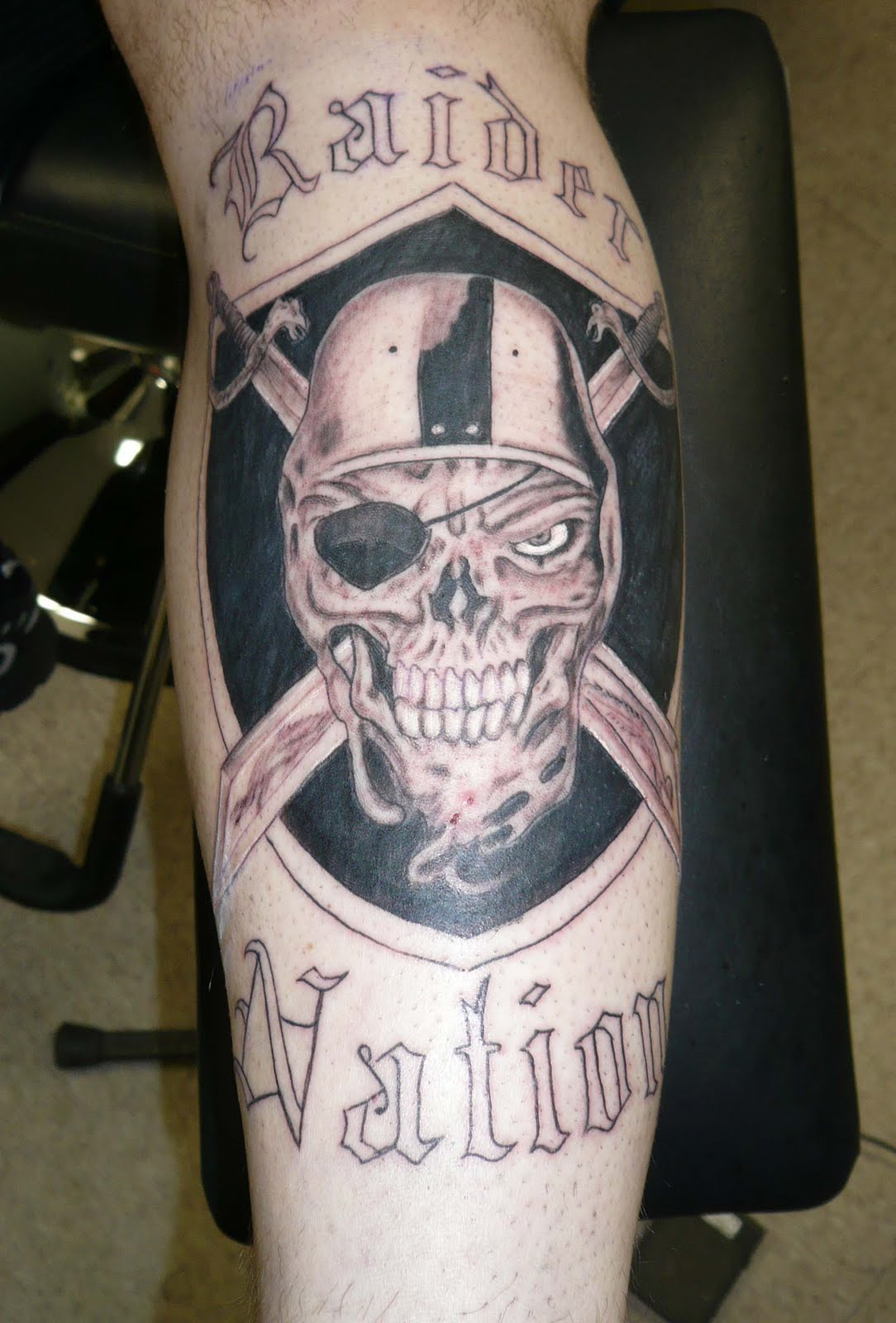 Oakland Raider Tattoo Designs http://tattooconnection.com/category/oakland-raiders-tattoo/
