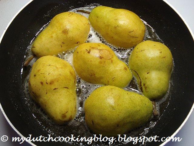 The dutch table gebakken peren for 4 tablespoons of butter