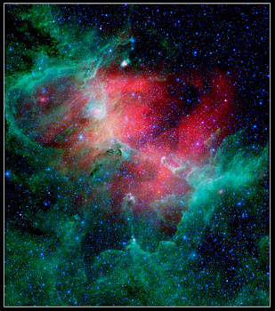 Eagle Nebula (M16) in Infrared