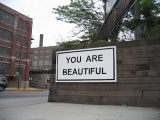 you are beautiful - a board stating you are beautiful