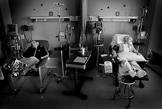 Katie Kirkapatrick and Nick in hospital