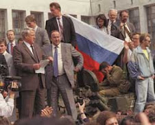 Eltsin dirige il colpo di Stato contro il Parlamento dell'URSS