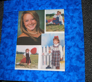 portrait block for t-shirt quilt featuring the lucky recipient