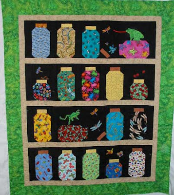 Bugs & Frogs Quilt for grandson. Lots of bright colors that are fun and great for kids.