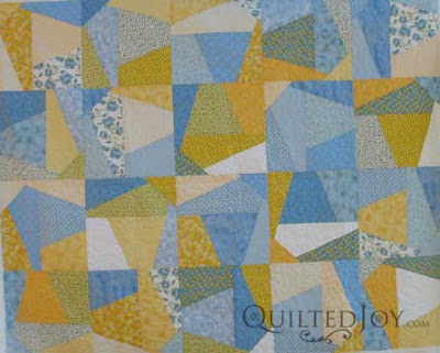 Split Nine Patch Quilt with Spin Pantograph