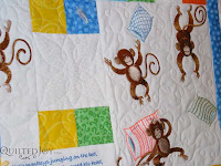 5 little monkeys quilt, quilted by Angela Huffman