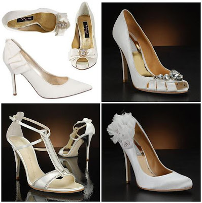 Badgley Mischka Caroline White Wedding Shoes via MyGlassSlipper.com
