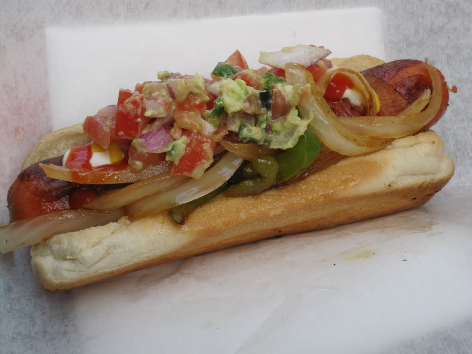 Loaded hotdog