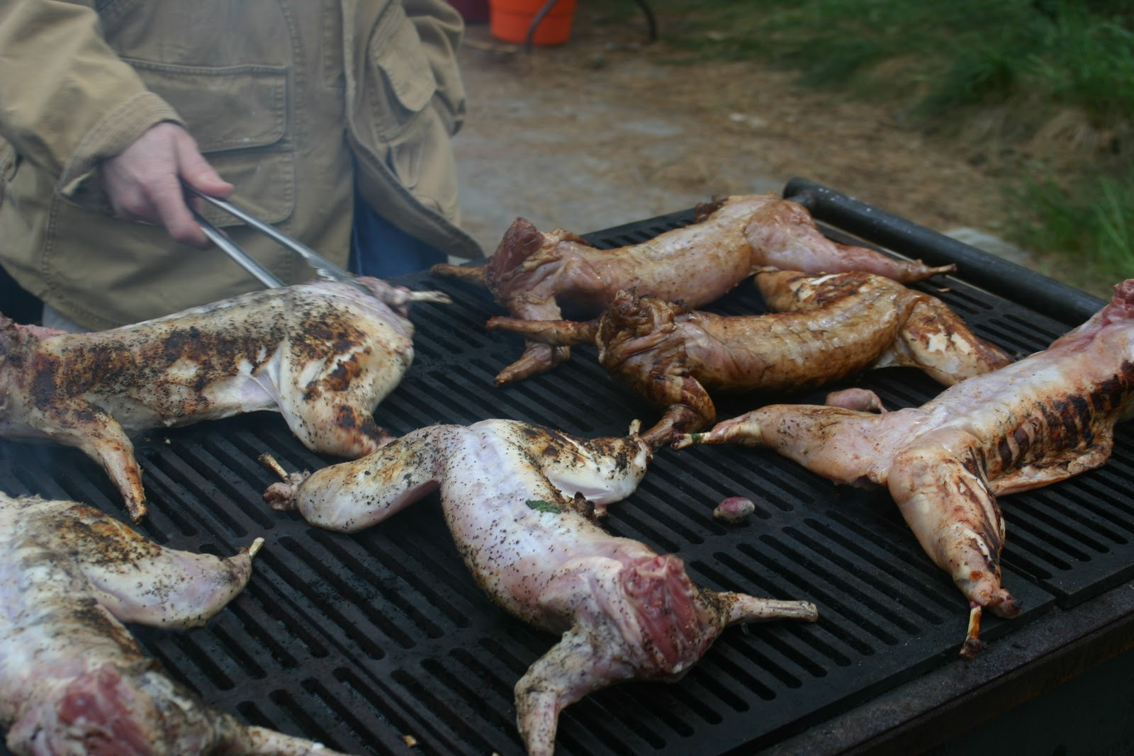 How to cook the rabbit completely in the oven and how much time is he preparing