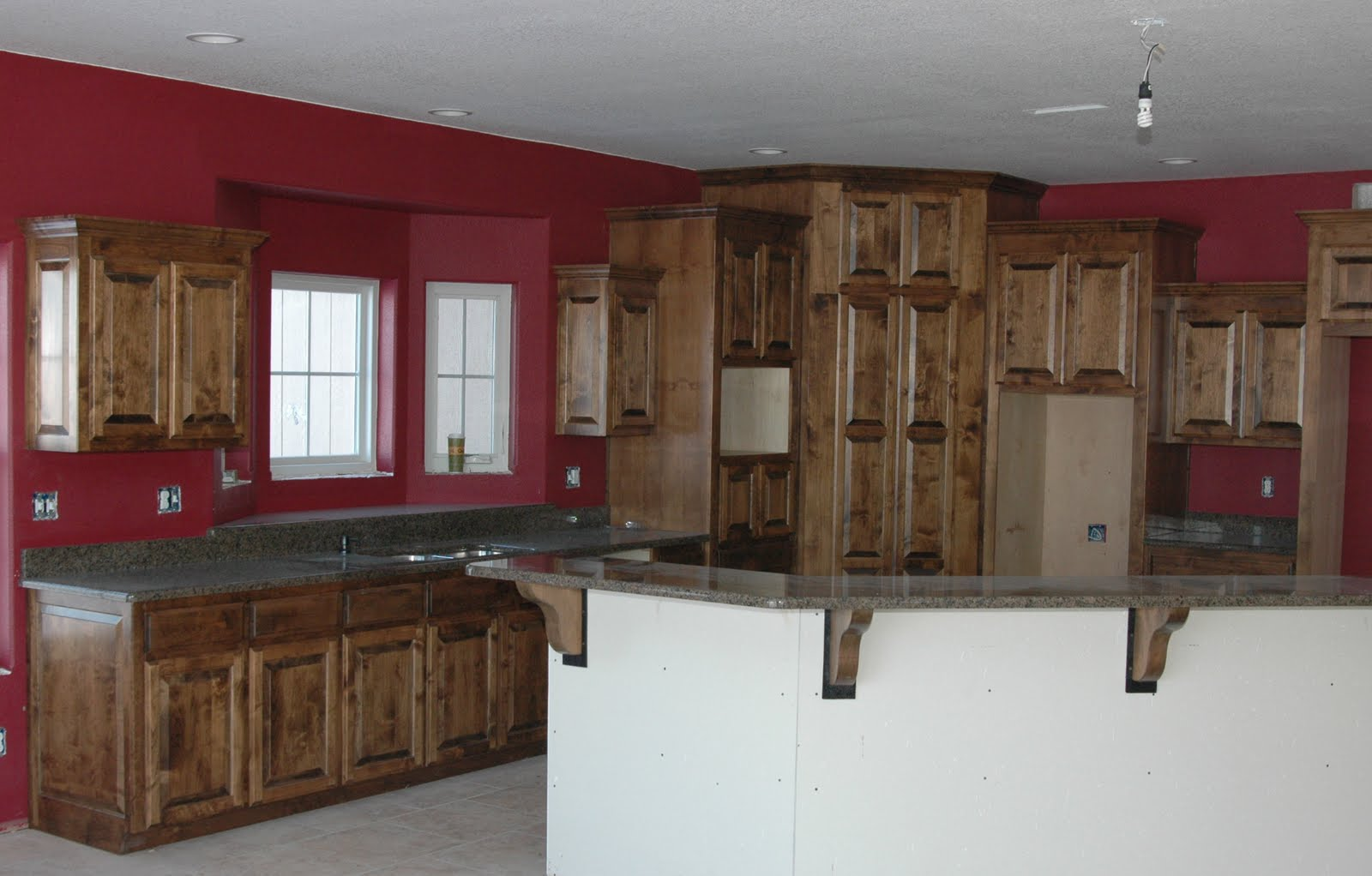 Clear Alder Wood Cabinets