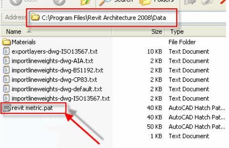 how to create pat files revit
