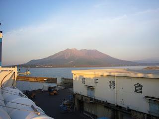 船から見た桜島