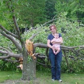Maggie's first tornado