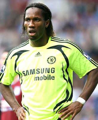 didier drogba hair. FC striker Didier Drogba