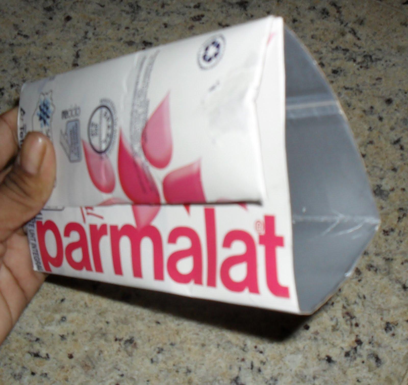 Cristina Artesanato: Passo a passo carteira feita com caixa de leite