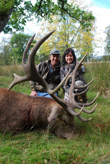 My husband & I in Scotland, I shot a Red Stag