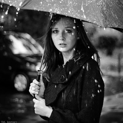 Na chuva...