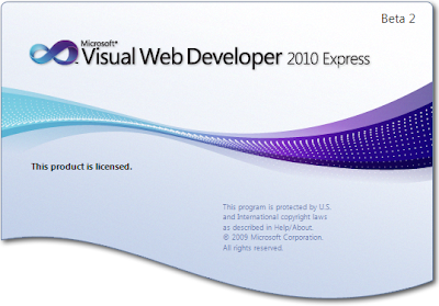 Microsoft Visual Web Developer 2010.