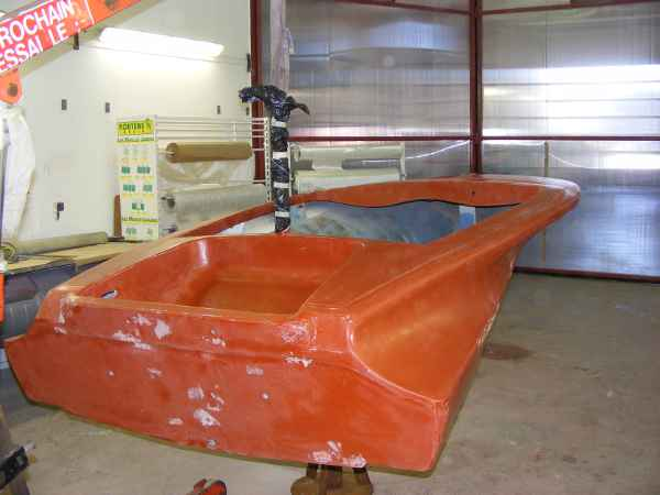 american ski boat   stiletto de julien c  1965