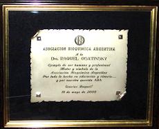 MERECIDO HOMENAJE A LA DRA. OSATINSKY