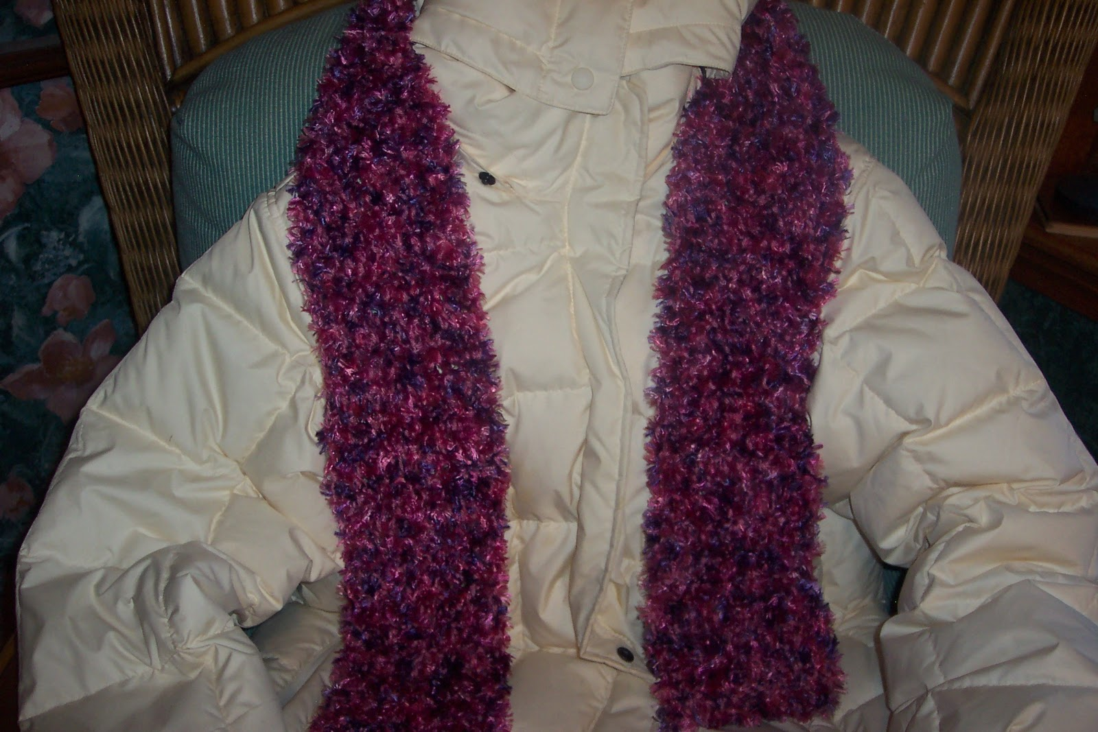 Free Crochet Pattern For Boa Scarf : Boa furs pattern bernat 2005 Knit crochet cape poncho wrap ...