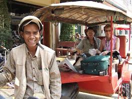 Jay & Linda in Khmer Tuk Tuk