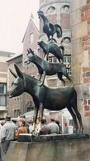 скульптура Бременские музыканты в Бремене