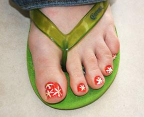 toes nail art