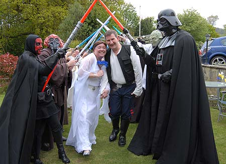 That wedding picture was sure disturbing wasn 39t it Happy Star Wars Day