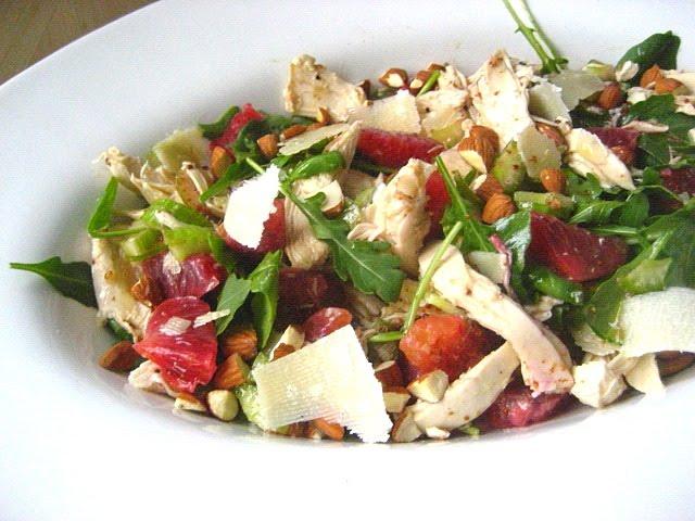 Stacey Snacks: Winter Chicken Salad w/ Blood Oranges & Almonds