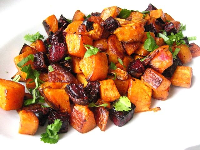 Roasted Beet And Sweet Potato Salad Recipe — Dishmaps