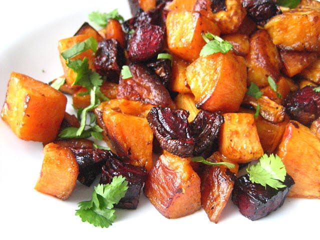 Stacey Snacks: Valentine's Salad: Roasted Beets & Sweet Potatoes