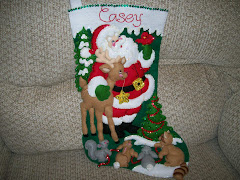 Beaded and Sequined Felt Items, Knit Stockings